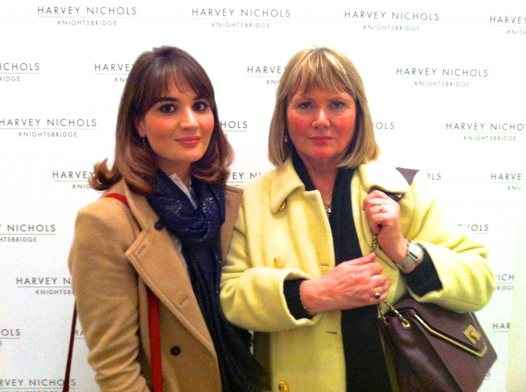 Mum and I at Harvey Nichols S/S 13 Show - Mads About Town, Madeleine Spencer