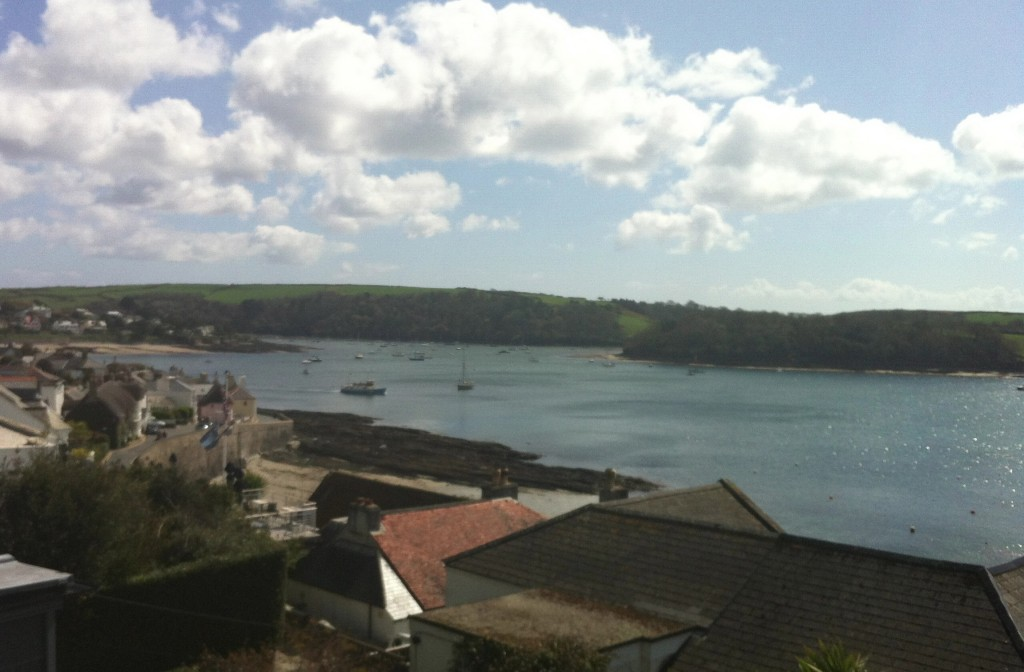 The view from the Tresanton Hotel