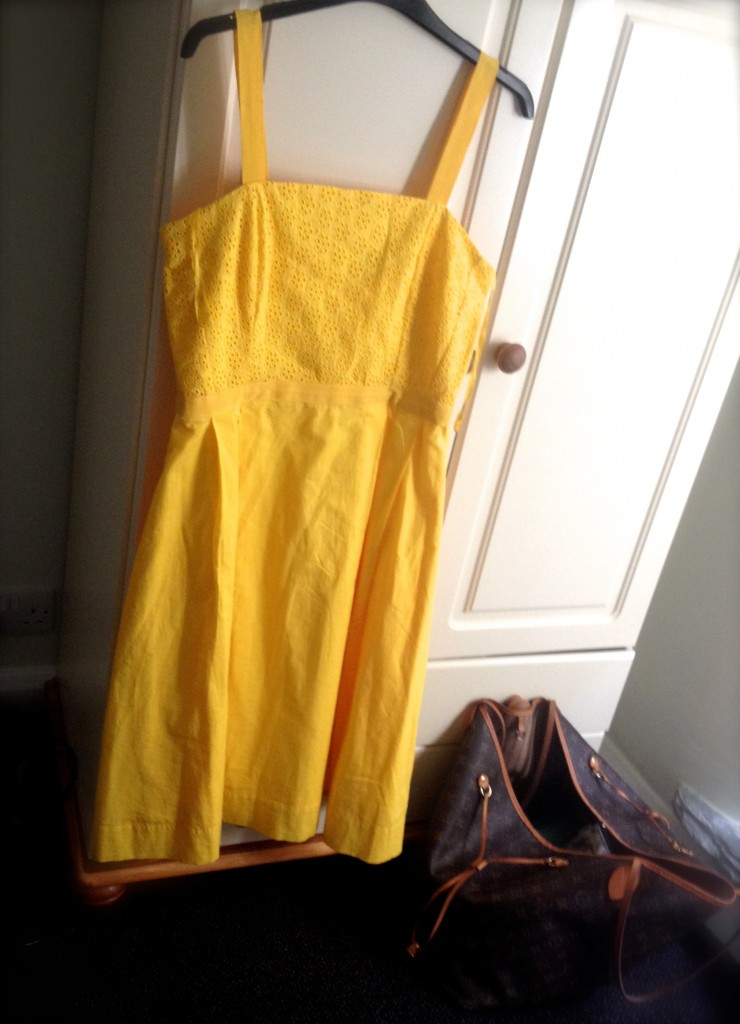 Yellow Dickens & Jones Broderie Anglaise Yellow Dress