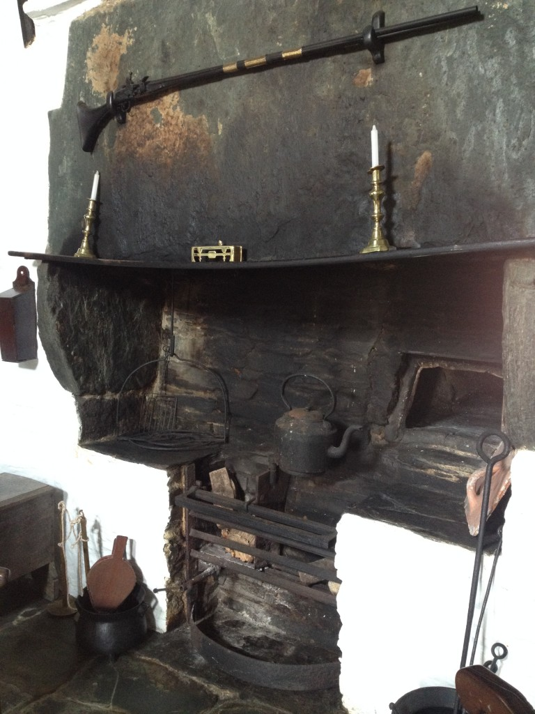 Example of a medieval kitchen at the old post office, tintagel