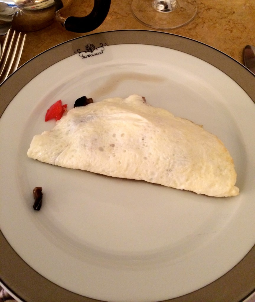 Egg White Omelette at The Wolseley