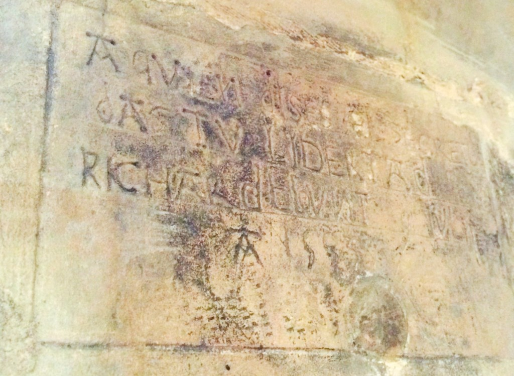 Richard Blount Graffiti in The Tower of London