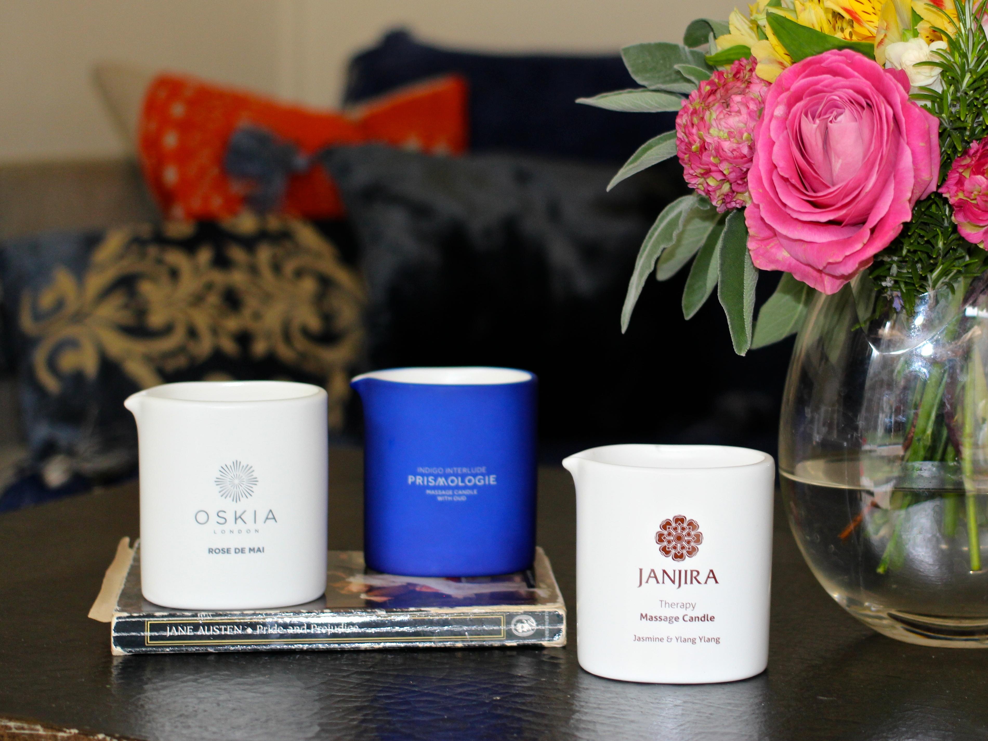 Prismologie, Janjira and Oskia Massage Candle Reviews