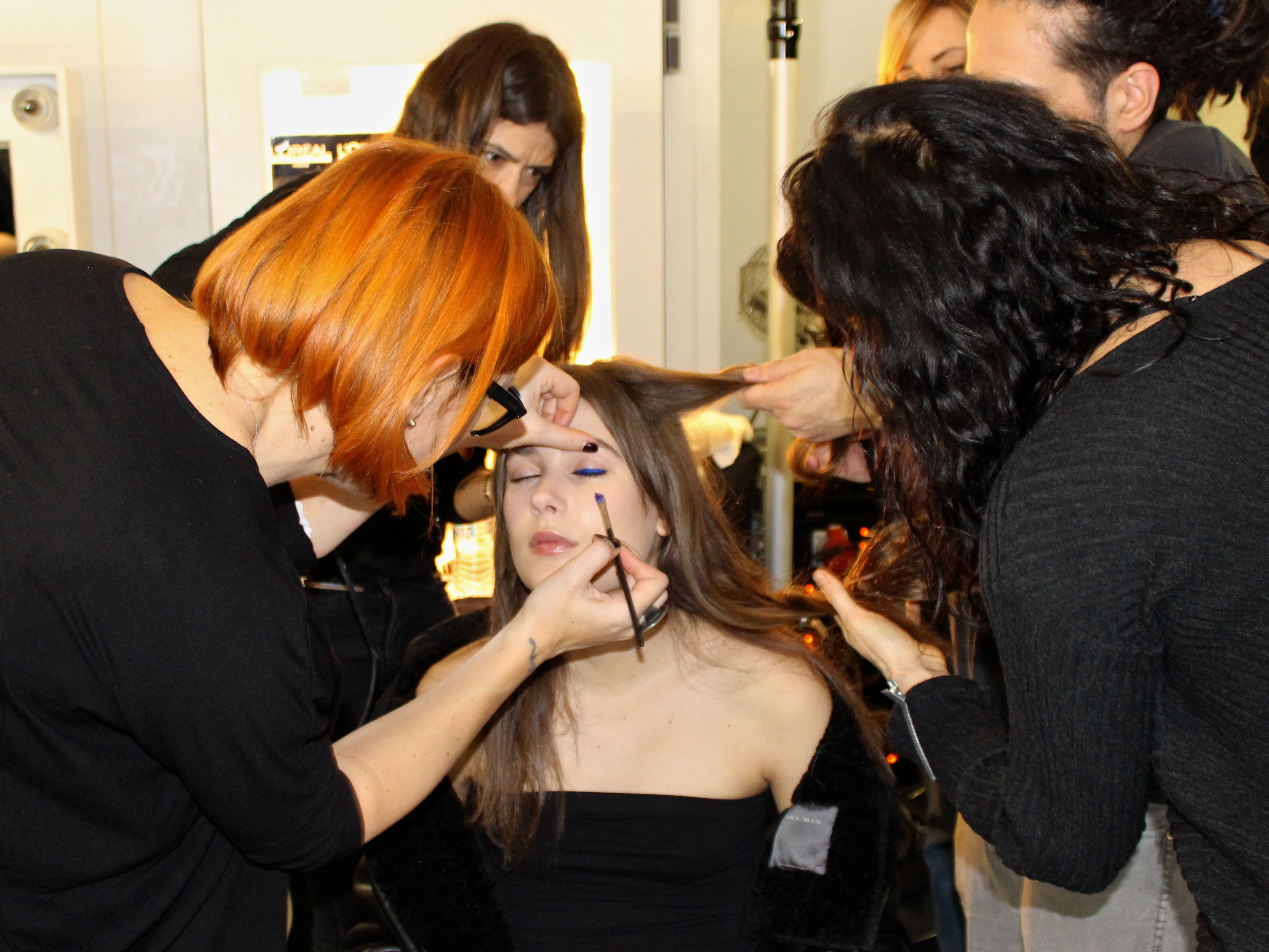 LFW Backstage at Anya Hindmarch
