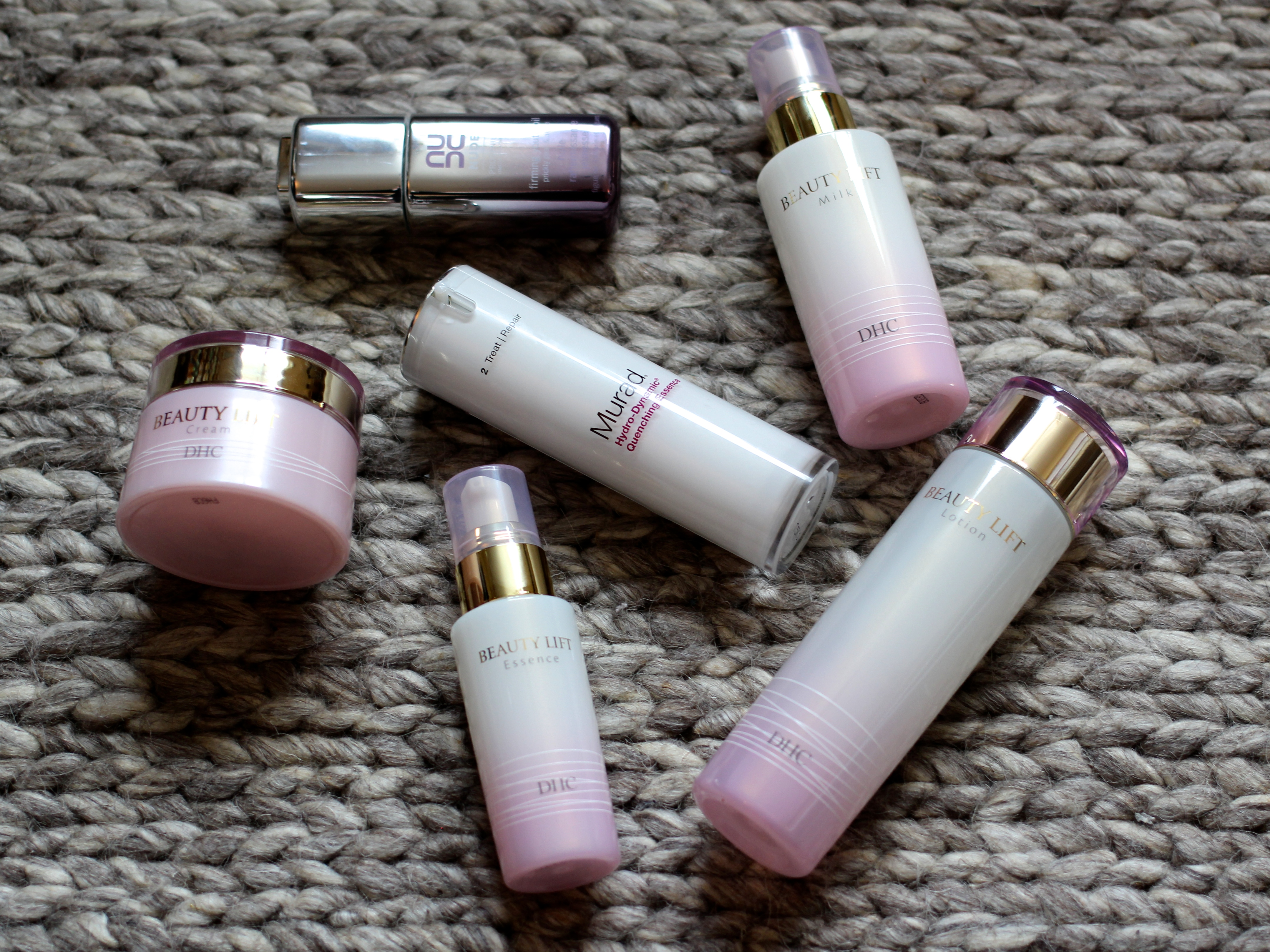 Murad Essence, DHC Lift Milk and Nude Firming Oil