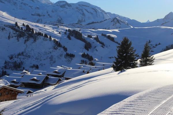 Skiing in Switzerland Les Crosets