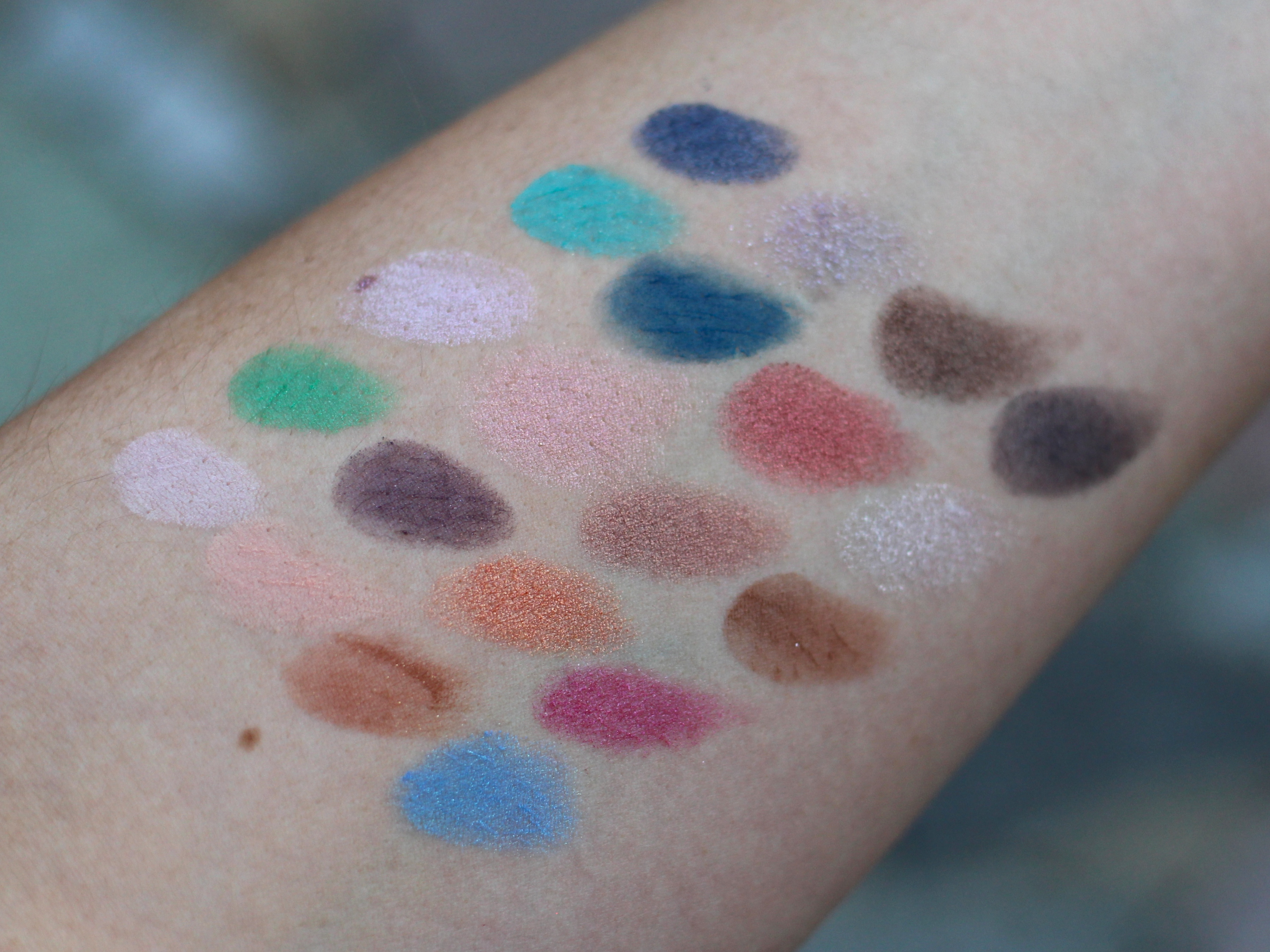 Urban Decay Alice In Wonderland Swatches