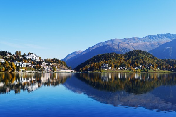 Mandatory Credit: Photo by Christian Kober/robertharding/REX/Shutterstock (5664338a) Autumn on the lakeside in St. Moritz, Engadine, Graubunden, Switzerland, Europe VARIOUS