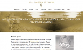 Julia Cameron Interview Madeleine Spencer