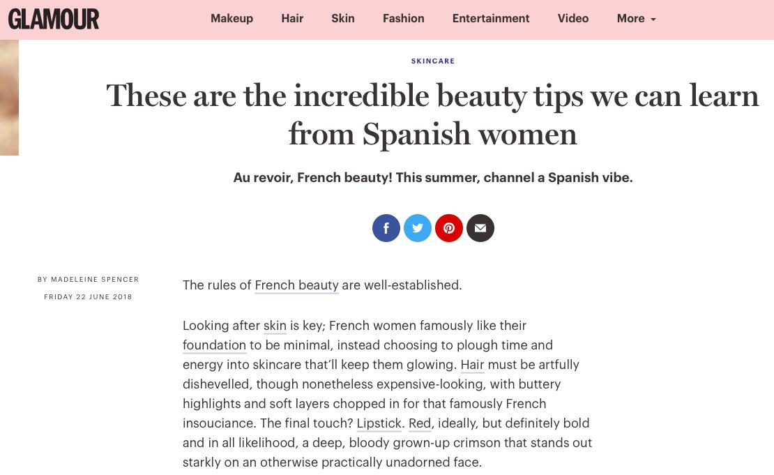 Spanish Beauty Glamour