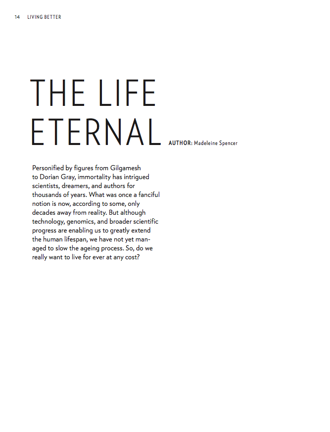 Julius Baer VISION The Life Eternal